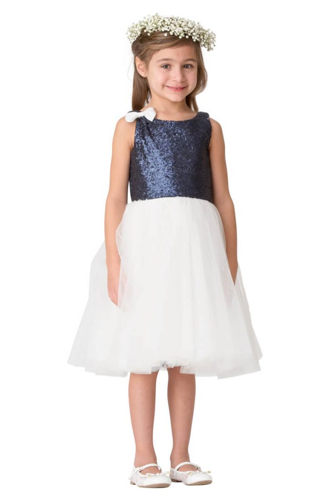 Bari Jay sequin flower girl