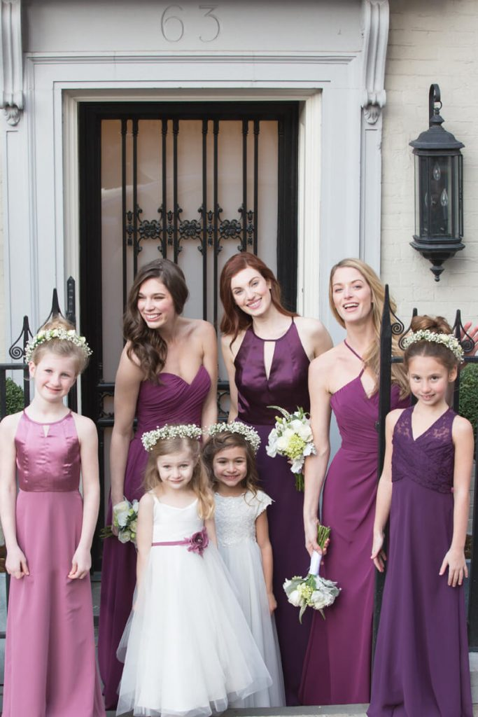 Bari Jay purple bridesmaids dresses
