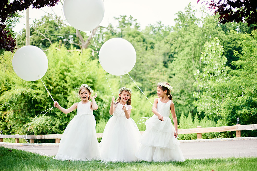 Bari Jay Flower Girls with Balloons