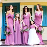Bridesmaids and Flower Girl on Porch